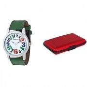 Danzen wrist watch for mens with red card case -cdz-416