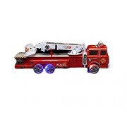 "14"" Friction Powered Rescue Fire Truck with Ladder, Lights & Sound Effects by Toyland"