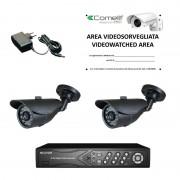 Kit Videosorveglianza Comelit DVR 200 IPS e due telecamere AHKIT080C