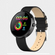 LEMONDA DM78 1.22 inch Color Round Screen Smart Bracelet Female Physiological Cycle Record - Leather Strap