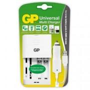 Gp Batteries Caricabatterie Universale Ioni di Litio e NimH AA/AAA Bianco