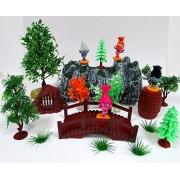 Trolls Deluxe Themed Play Set Featuring Figures and Other Decorative Themed Playset Items - Includes Everything Shown in Photo by Playsets