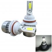 2 Pcs C9 9007 36W 3800 LM 6000K Auto Impermeable IP68 LED Linterna Con 2 COB LED Lamps, DC 9-36v (luz Blanca)