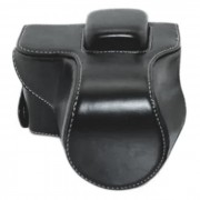 PU bolsa de cuero caja de la camara para la mini camara reflex digital Olympus EPL7 - negro