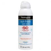 Protetor Solar Neutrogena Sun Fresh Wet Skin FPS 50 180ml - Unissex