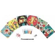 Jucarie educativa Janod Glitter Cards - Circus