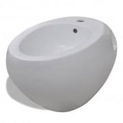 vidaXL Bideu ceramic de perete, alb