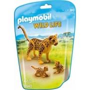Joc PLAYMOBIL Leopard cu Pui