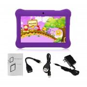 EY Q88 Niños Tablet De 7 Pulgadas, 512 MB De +8GB US Plug Kids Pad El Aprendizaje De Los Alumnos-Violeta