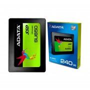 Unidad Estado Solido SSD 240GB ADATA Ultimate SU650 ASU650SS-240GT-C- Gris