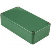 Carcasă de aluminiu IP54, 1590XXGR, verde, 145 x 121 x 39 mm