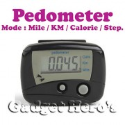 Gadget Heros Digital II LCD Pedometer Step Calories Counter. Walking Distance With Belt Clip