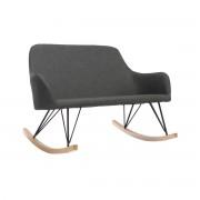 Sillón relax - Mecedora 2 plazas tejido gris antracita patas metal y fresno JHENE - Miliboo