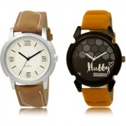 The Shopoholic White Black Combo Fashionable Funky Look White And Black Dial Analog Watch For Boys Mens Leather Watches