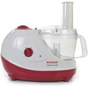 Singer Prime Chef 600 W Food Processor(White & Red)