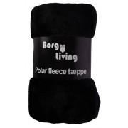 Borg Design Coral fleecefilt - svart - 200x150cm
