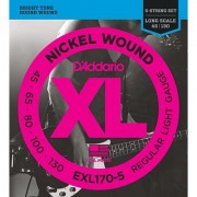 D'Addario EXL170-5 5-String Nickel Wound Bass Guitar Strings Light 45-130 Long Scale