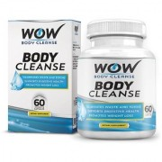 Wow Body Cleanse - Colon Cleanse Detox Dietary Natural Weight Management Supplement - 60 Veg Capsules (Pack Of 1)