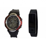 VITREND(R-TM)New Model YS Sports Digital and Silicone LED Combo Watches for Boys Girls(Sent as Available Colour)