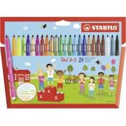 Stabilo Pastelli Trio A-Z. Scatola in cartone 24 matite colorate