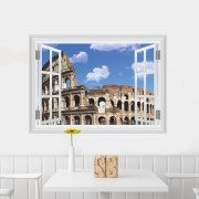 Sticker perete Rome 3D Window