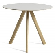 Copenhague CPH20 runder Tisch Eiche/Grauweiß 90 cm Hay