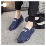 Casual Zapatos De Lona Denim Lavados E-Thinker Para Hombres -Azul