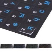 Russian Letters Keyboard Stickers Frosted PVC for Notebook Computer Desktop Keyboard Keypad Laptop