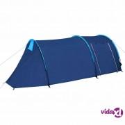vidaXL Šator za kampiranje za 4 osobe tamna plava/svjetla plava