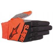 Alpinestars Racefend Motocross Textil Handschuhe Schwarz Orange S