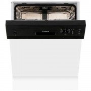 Bosch Serie 4 SMI50C16GB Built In Semi Integrated Dishwasher - Black
