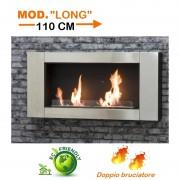 Stufa/Camino/Caminetto murale ecologico a bioetanolo doppio bruciatore - Twin Flame