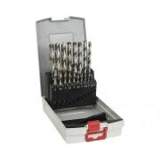 Set burghie metal HSS-G Bosch Professional Ø1-10 mm, 19 piese