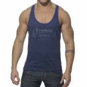 ES Collection Power Gym Low Rider Tank Top T Shirt Navy TS077