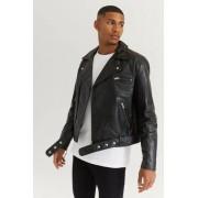 William Baxter Skinnjacka Biker Leather Jacket Svart