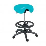 Taburete Kinefis Economy tipo Pony ou Cadeira de Montar, Estofado em Skay Excellent, Altura Alto com Reposapiés (Cores disponíveis)
