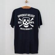 Uppercut Deluxe Uppercut Grease Monkey Lives T-Shirt - Navy/White Print - L - Navy/White