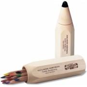 Creioane colorate Triocolor Jumbo Natur cutie de lemn, forma creion, 10 culori/set Koh-I-Noor