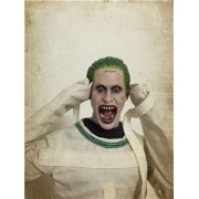 """2 style 1:6 Jared Leto Head Sculpt Suicide Squad The Joker Screaming/Normal Version Head Model For 12"""" HT PH Male Figure"""