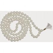 White Agate/Hakkik 108 Beads Buddhist Prayer/Japa/Rosary/wearing/Fashion Wear Mala
