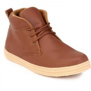 Big Fox Men's Brown Lace-up Sneakers