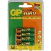 Акумулаторна Батерия R03 AAA 1000mAh NiMH 4 бр. в опаковка GP - GP-BR-R03-1000-4pk
