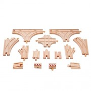 Hape Wooden Railway Advanced Expansion Rail Pack