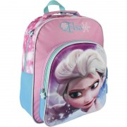 Disney Blauw/paars/roze Disney Frozen rugzakken/rugtassen Elsa 30 x 41 cm reistas voor meisjes/kinderen