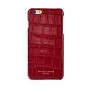 iPhone 7 Cover Case Red Croc Cream Suede