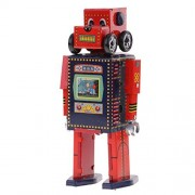 MagiDeal Retro Wind Up Walking Search & Rescue Robot Clockwork Mechanical Tin Toys