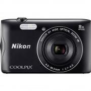 Digitalna kamera Coolpix A-300 Nikon 20.1 mil. piksela optički zoom: 8 x crna WiFi, Bluetooth