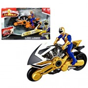 Bandai Year 2011 Power Rangers Samurai Series Action Figure Vehicle Set - LIGHT DISC CYCLE with 4 Inch Tall Gold Power Ranger Figure