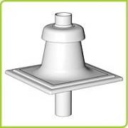 52108111 - Brilon Komínový poklop DN 80 plastový čierny, 52108111