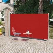 vidaXL Странична тента за тераса, 180 x 300 см, червена